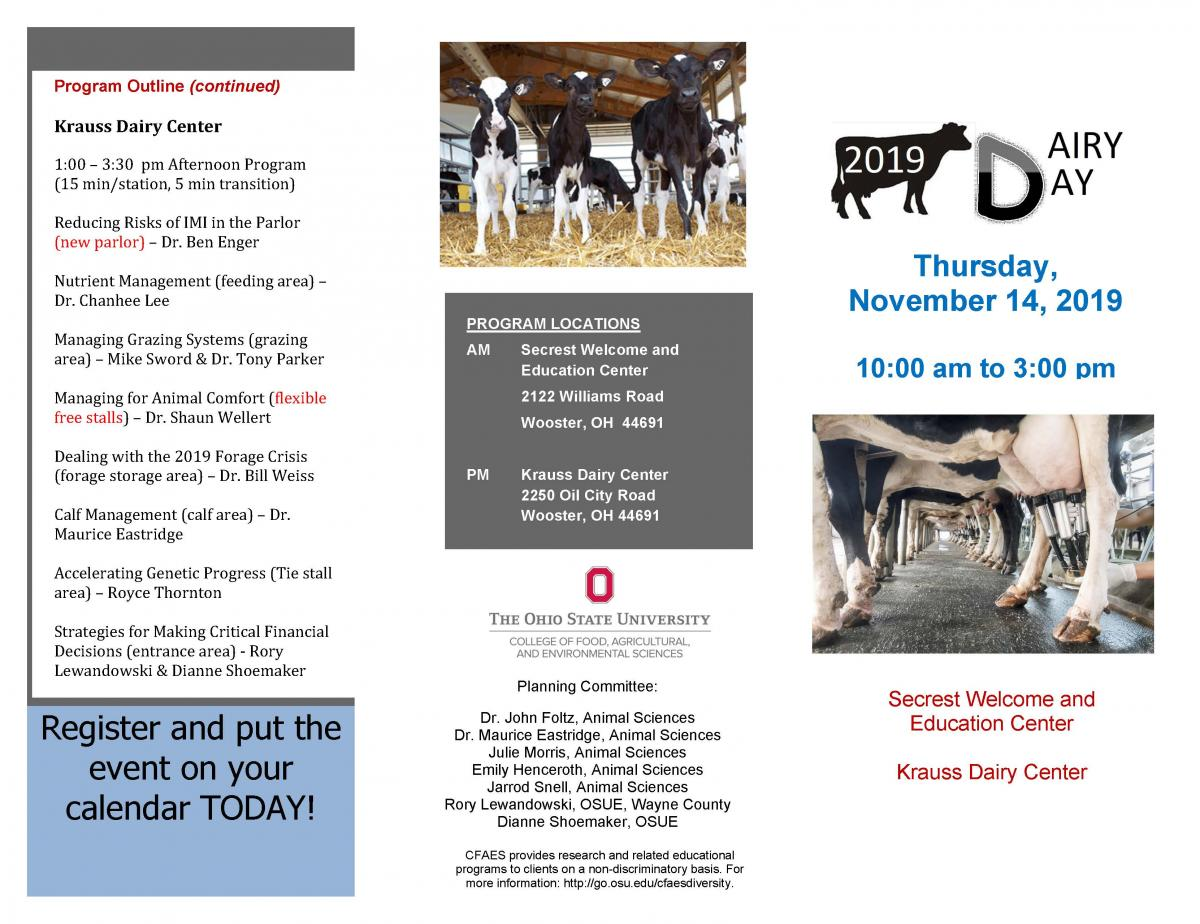 Dairy Day brochure