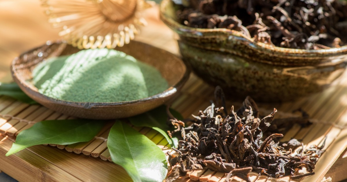 In the study, adding green tea extract to a film-forming substance created a safe-to-eat barrier that killed norovirus as well as two types of bacteria. Photo: Shutterstock.com