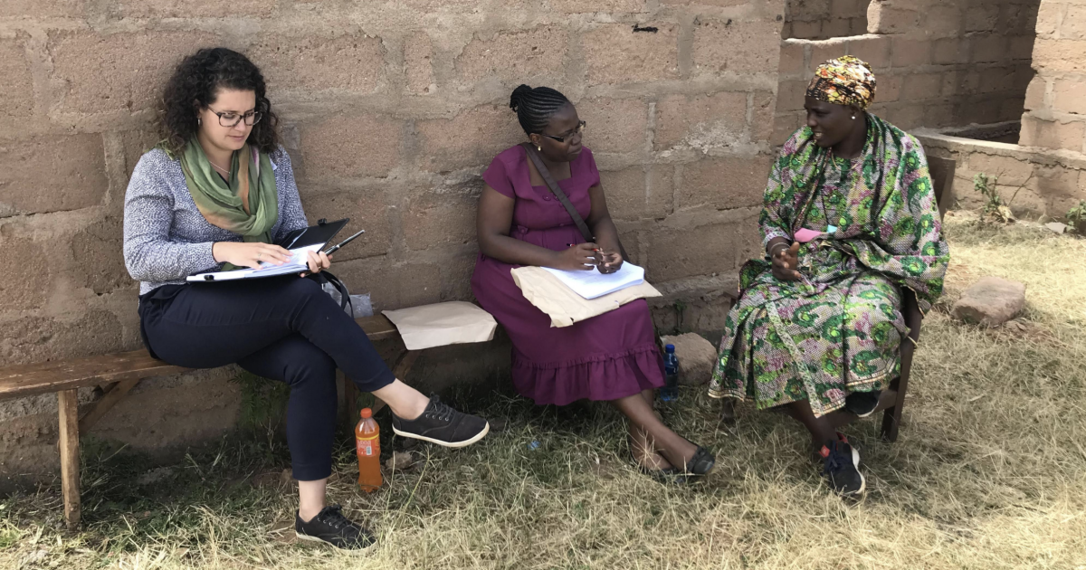 Mary Rodriguez works with community partners in Tanzania.