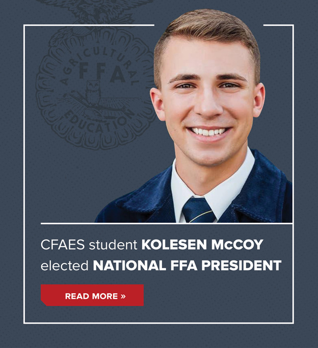 CFAES student Kolesen McCoy elected National FFA President