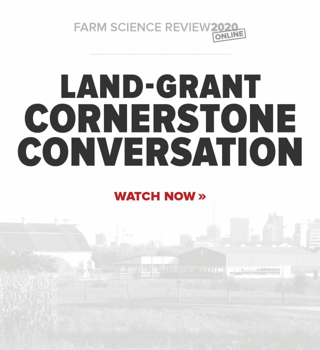 Watch the Dean's Land-Grant Cornerstone Conversation Now