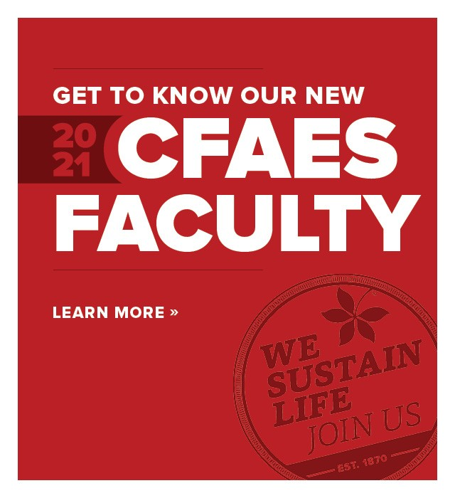 Get to know our new 2020–21 CFAES Faculty