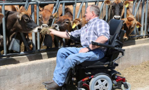 OSU Extension's AgrAbility program helps farmers get assistive technology they might need to keep farming. (Photo: Ken Chamberlain, CFAES)