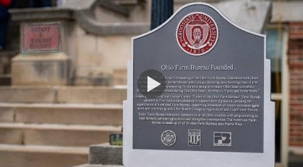 Ohio Farm Bureau marker unveiled