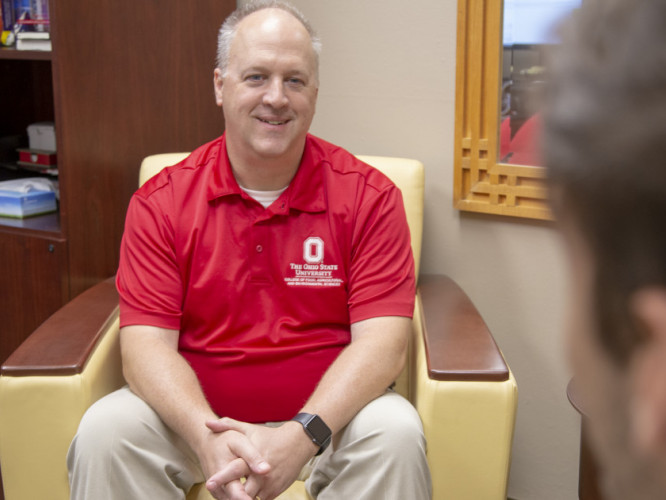 David Wirt was hired as part of Ohio State's effort to meet mental health needs on campus. (Photo: John Rice, CFAES)
