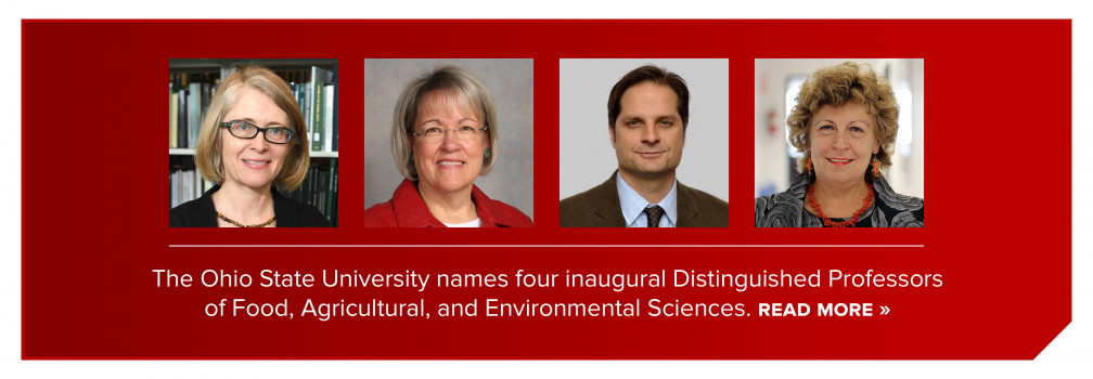 Ohio State recognizes four Distinguished CFAES Professors