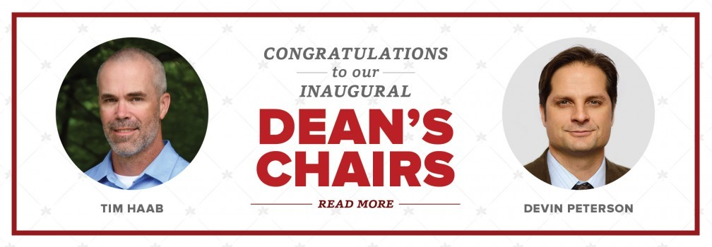 Congratulations to our inaugural Dean's Chairs