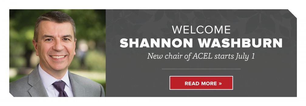 Welcome Shannon Washburn