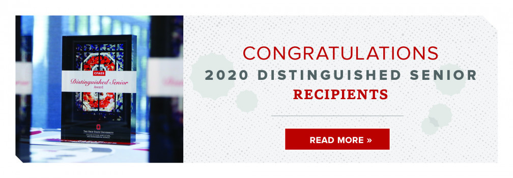 Congratulations Distinguished Senior Recipients