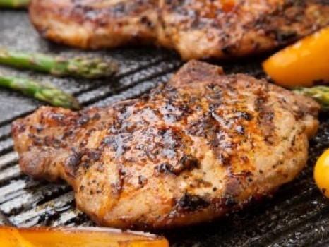 pork chop on grill