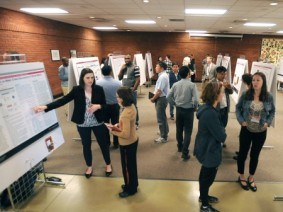 The conference included a research poster competition. (Photo by Ken Chamberlain)