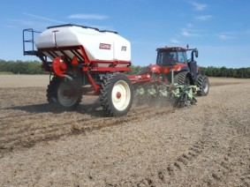 One method for accurate nutrient placement is placing phosphorous below the soil surface via strip-till. (Photo: John Fulton, CFAES)