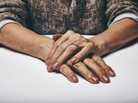 iStock image of elderly women's hands