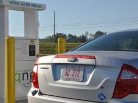 OARDC fleet car refueling with natural gas