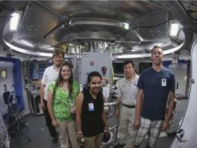 Students inside Deep Space Habitat