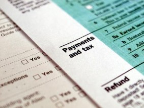 Image of income tax form