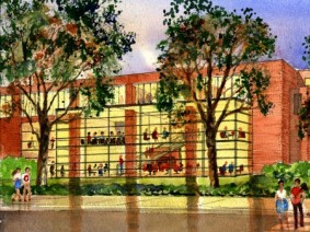 architectural rendering of new student success center