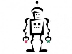 camp tech robot icon