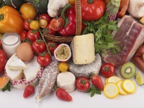variety of fresh foods