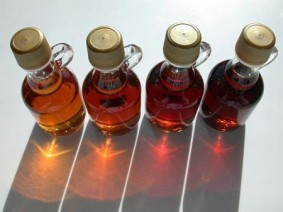 Maple syrup bottles