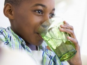 Picture of child drinking water