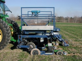 Image of subsurface band applicator in field
