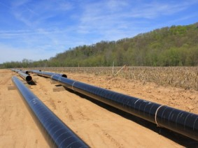 pipelines across farm field