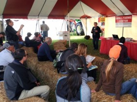 2014 presentation in the Small Farm Center tent