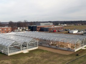 A view of the new Williams greenhouses. (Photo by Ken Chamberlain)