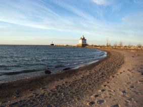 Fairport Harbor Lighthouse on the shores of Lake Erie. Photo: Getty Images.