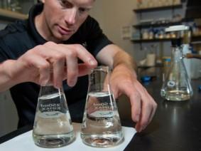 Sea Grant researcher Justin Chaffin in his lab.