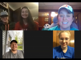 Muskingum County 4-H counselors meet using Zoom to plan Not a Camp. Photo: Ohio 4-H.