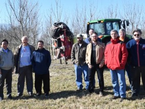 The sprayer development team, from left: Heping Zhu, Erdal Ozkan, Luis Canas, Adam Clark, Mike Klingman, Christopher Ranger, Michael Reding, Andy Doklovic and Barry Nudd.