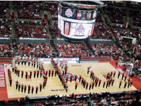 Script Ohio on the basketball court
