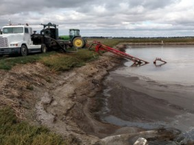 The frequent rain is filling up manure ponds and lagoons across the state. (Photo: CFAES)