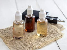 Various flavors of liquid nicotine for use in electronic cigarettes. Photo: Thinkstock.