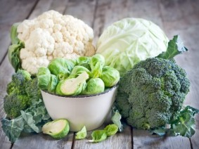 cauliflower, cabbage, Brussels sprouts and broccoli