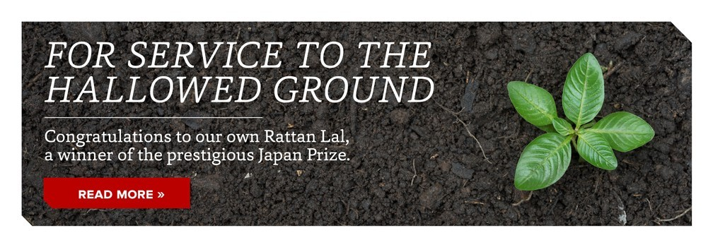 Japan Prize goes to CFAES soil scientist Rattan Lal