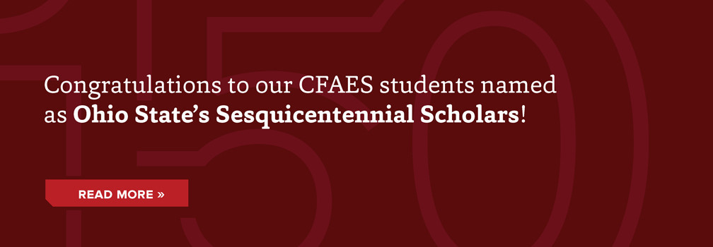 Congratulations CFAES students