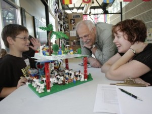 Kids and advisor at 2012 Cloverbot Challenge