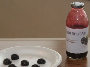 Nectar and confections made from black raspberries