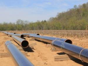 pipe being laid for pipelines