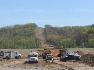 This image shows how a pipeline installation can affect a forested area.