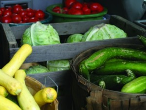 baskets of produce