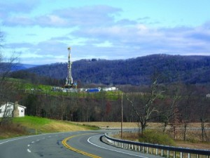 image of shale tower in landscape