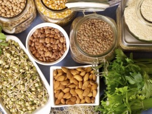 nuts, leafy greens