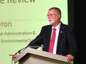 CFAES Dean Bruce McPheron made the announcement during the inaugural day of the 2015 Farm Science Review.