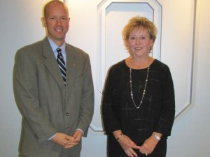 Pictured, left to right: Chris Delisio, chief advancement officer for CFAES; Faye Coughenou, a friend of the late Delma Roush