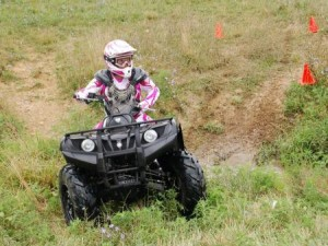 child on ATV