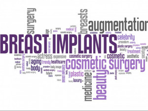 Breast implant word cloud